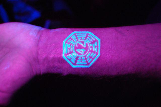 Dharma Initiative Blacklight Tattoo