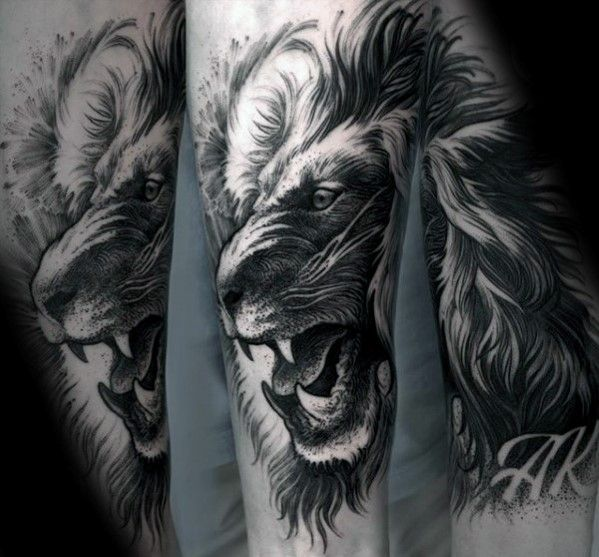 40 Lion Forearm Tattoos For Men - Manly Ink Ideas | Lions, Tattoo ...