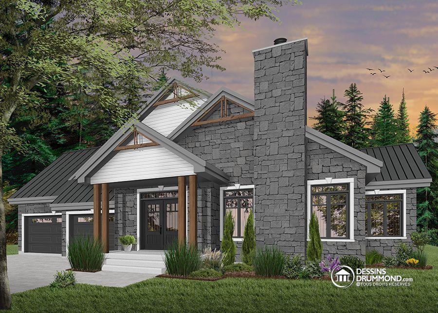 Détail du plan de Maison unifamiliale W3285 Maison Pinterest House