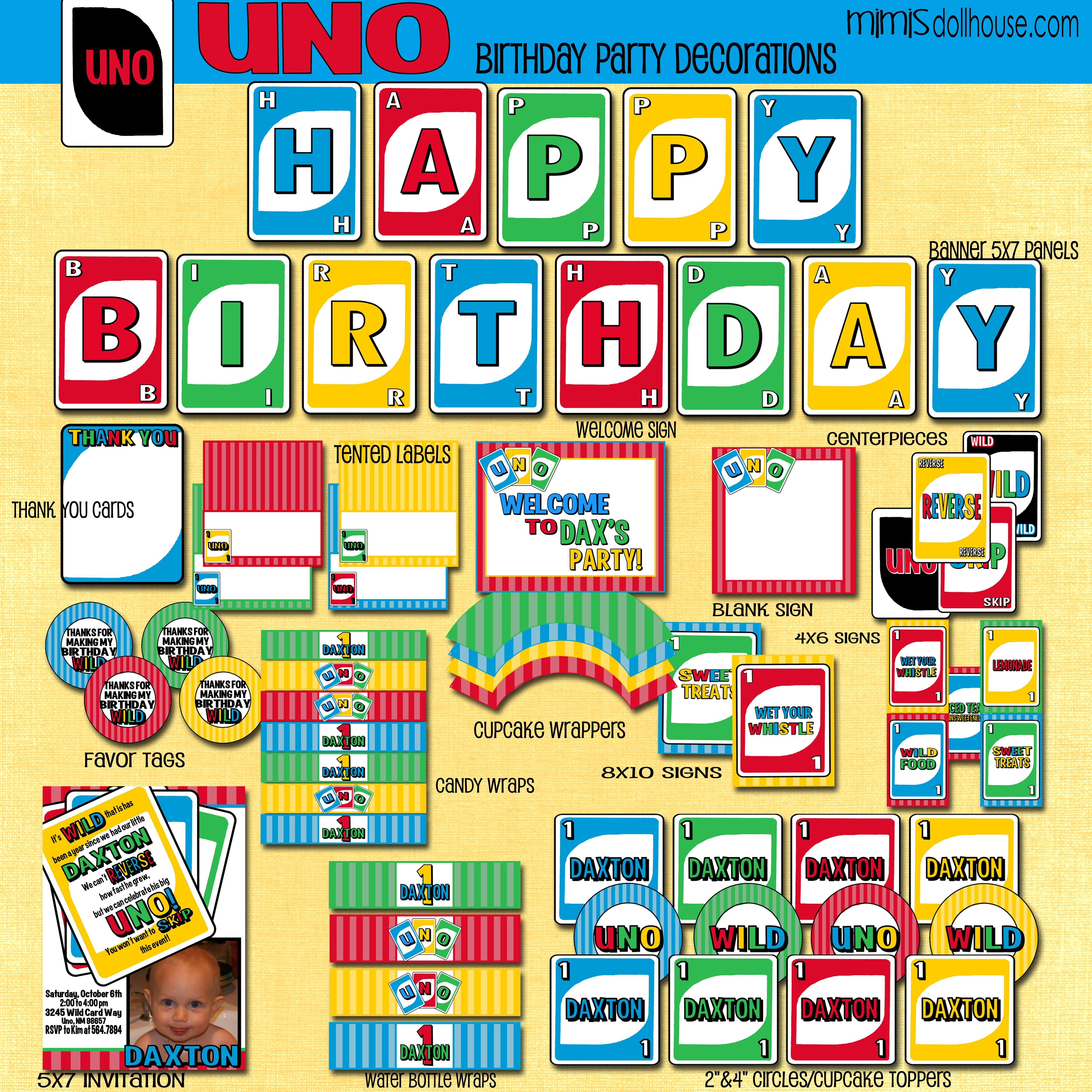 Uno Party Printable Collection
