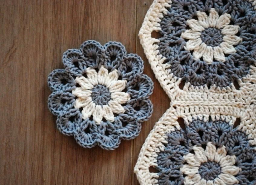 Looking for your next project? You're going to love Crochet Flower Coaster by designer Emma Du. - via @Craftsy