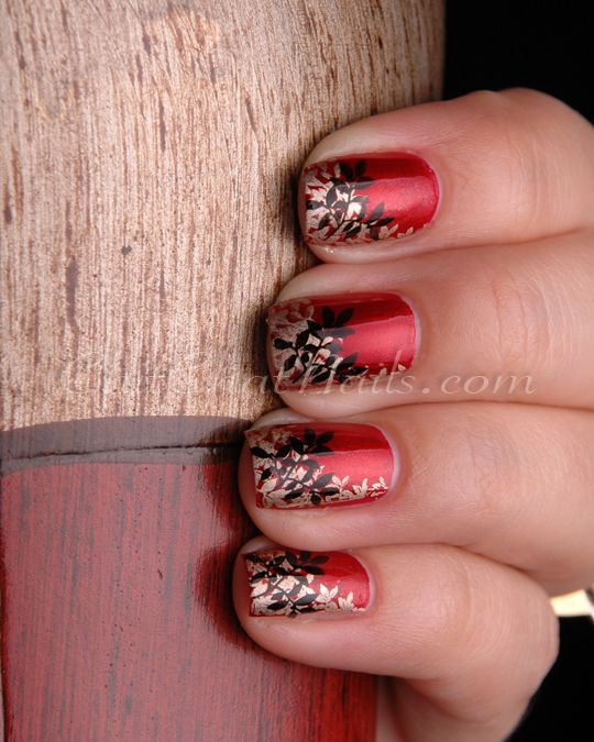 The double stamping was done using BM-316 and Essie Good as Gold and ...