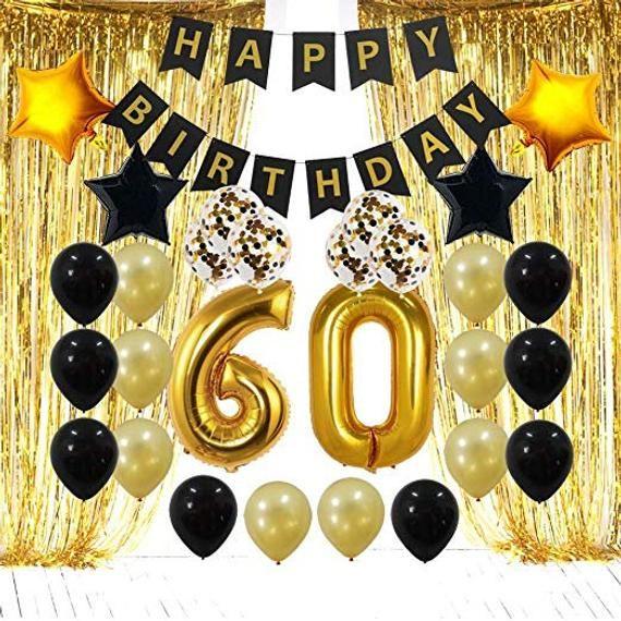 One Gold banner birthday banner happy Birthday 40th 50th 30th 21st