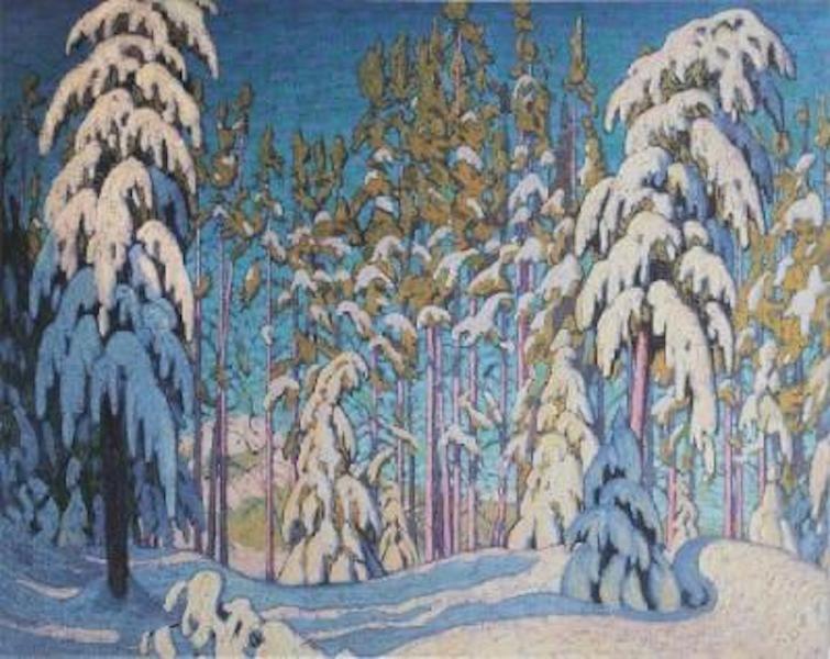 Lawren Harris Winter In The Northern Woods