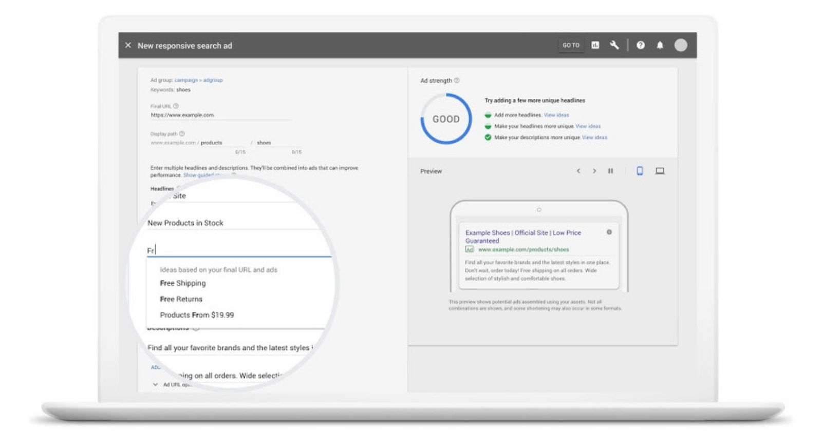 Google Introduces 4 New Tools For Responsive Search Ads Search Engine Journal Search Ads Search Engine Optimization Search Engine