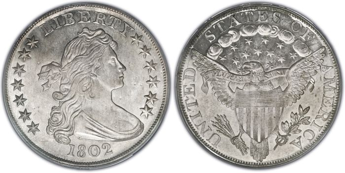 The 1802 Proof Dollar Of Which Only 4 Are Known Is Three Times As Rare Than The 1804 Silver Dollar 15 Known Antique Coins Silver Coins