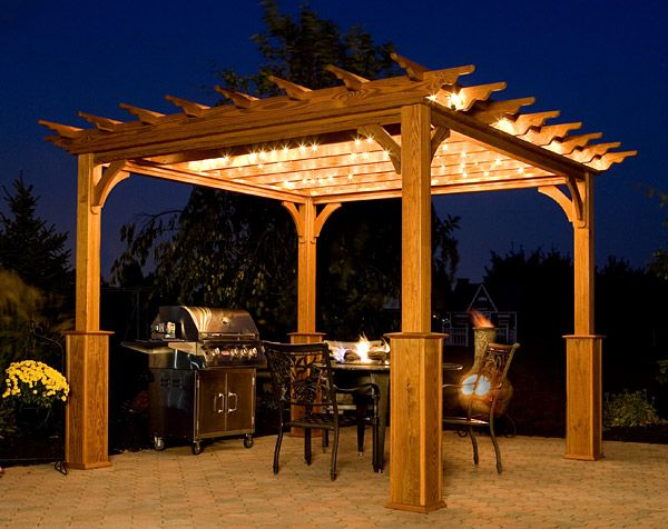Wooden pergola kits from Amish Country Gazebos are also available in the  natural beauty of hemlock - Wooden Pergola Kits From Amish Country Gazebos Are Also Available In