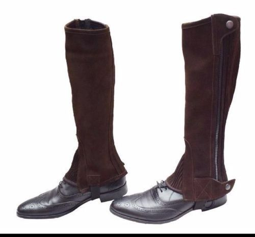 ARIAT CLOSE CONTOUR Show Chaps, waxed chocolate (braun), L