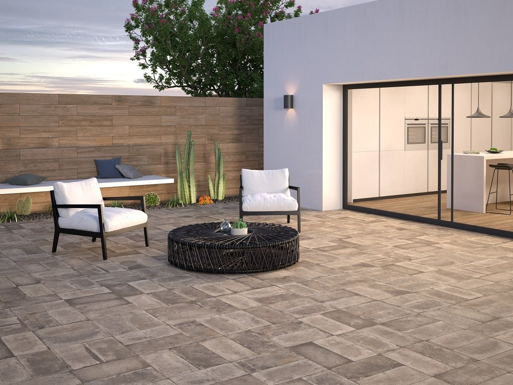 Details gallery interceramic usa fence and paver for Azulejos terrazas patios