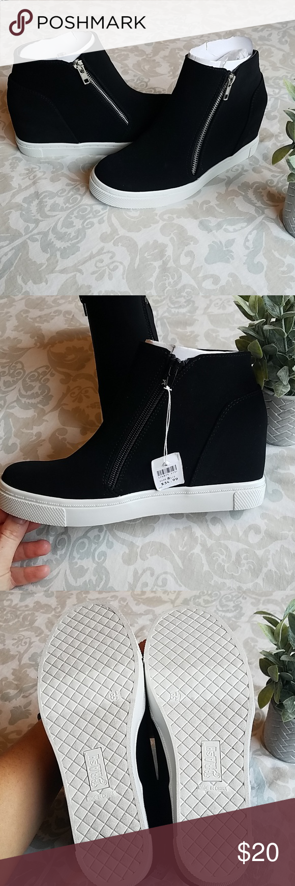c23e4b279a0 Women s Brash wedge sneakers New with tags. Bold black and white