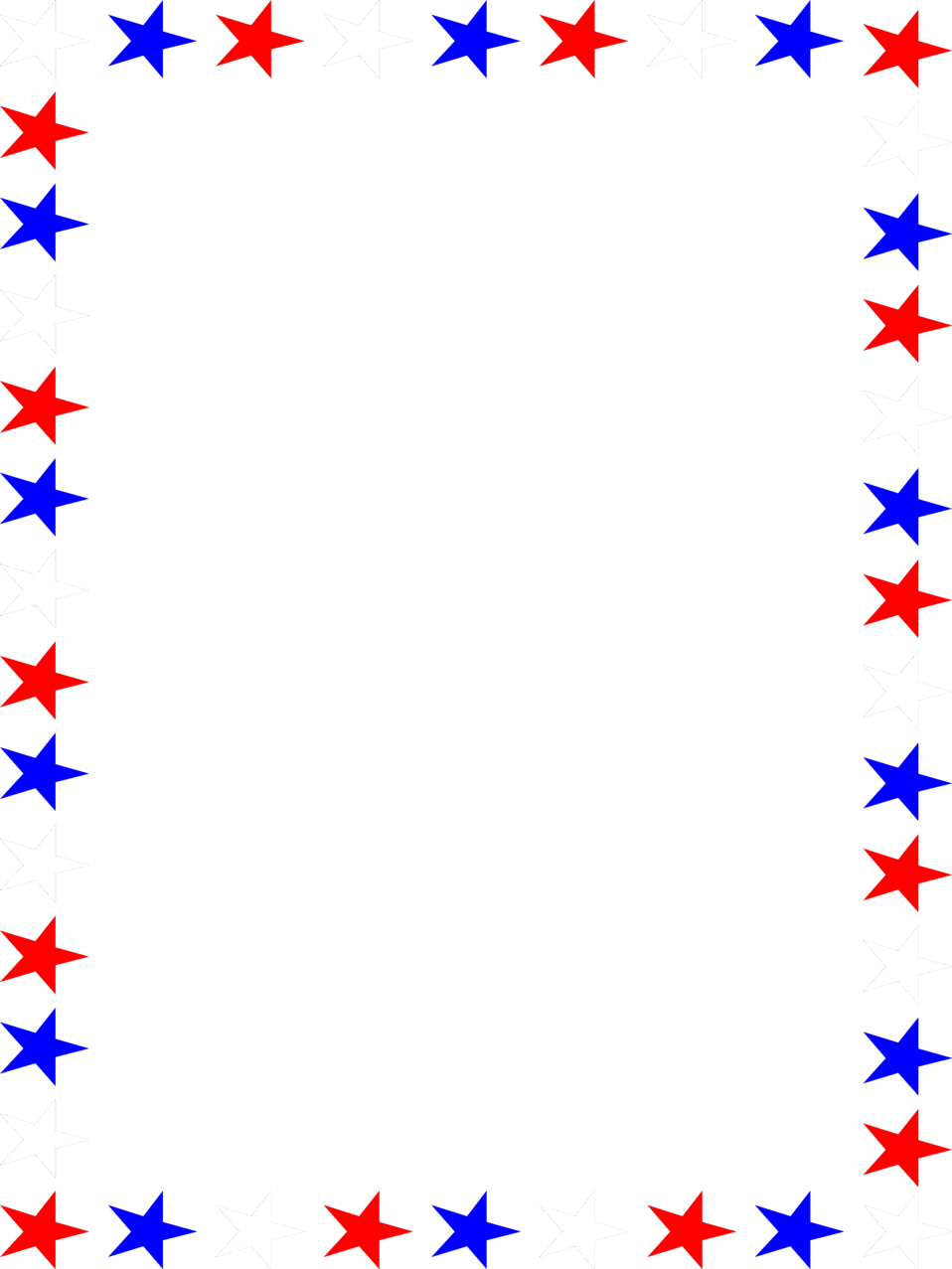 4371 Illustration Of A Blank Frame Border Of Red White And Blue Stars Pv Png 958 1277 Red Pages Clip Art Borders Clip Art