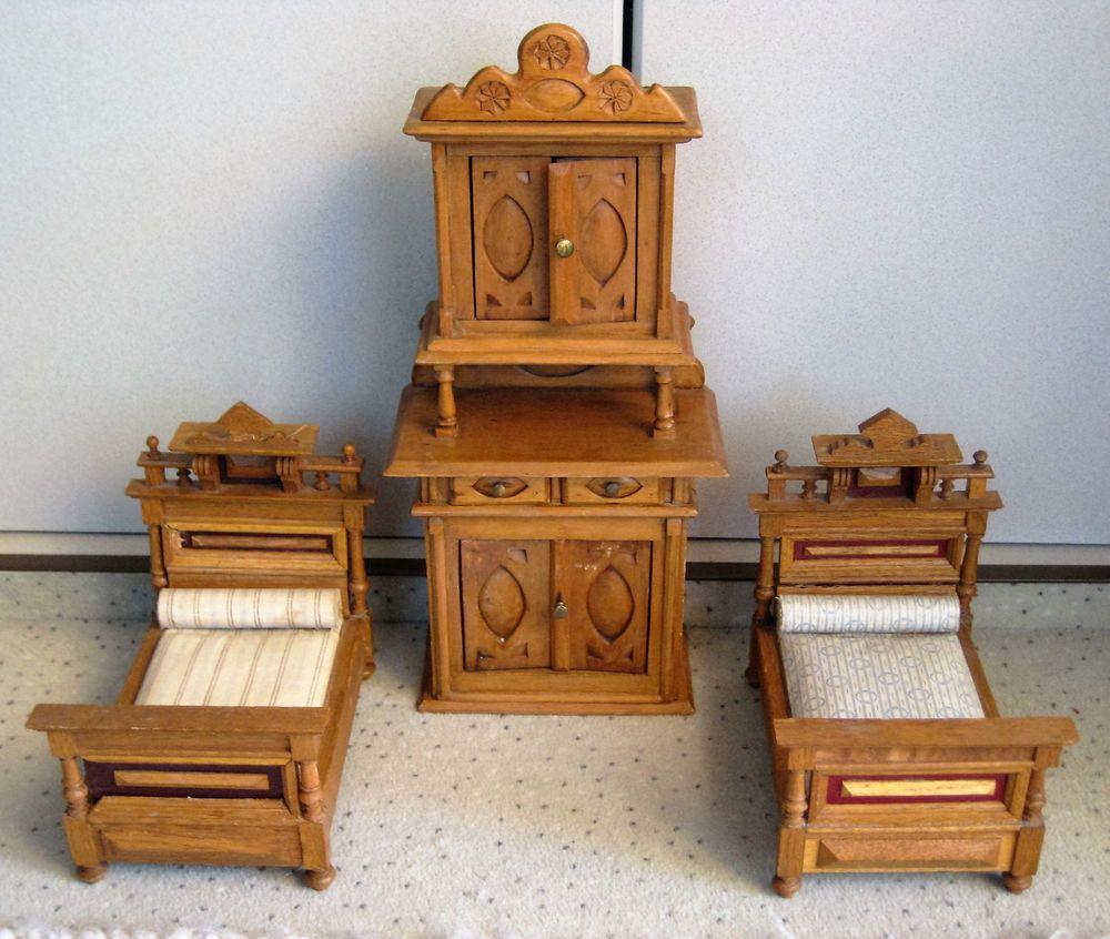 Alte Puppenmöbel von 1910 20 eBay