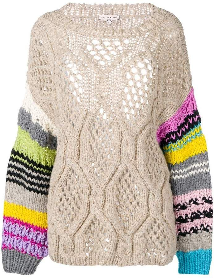 Natasha Zinko Chunky Knit Jumper #chunkyknitjumper