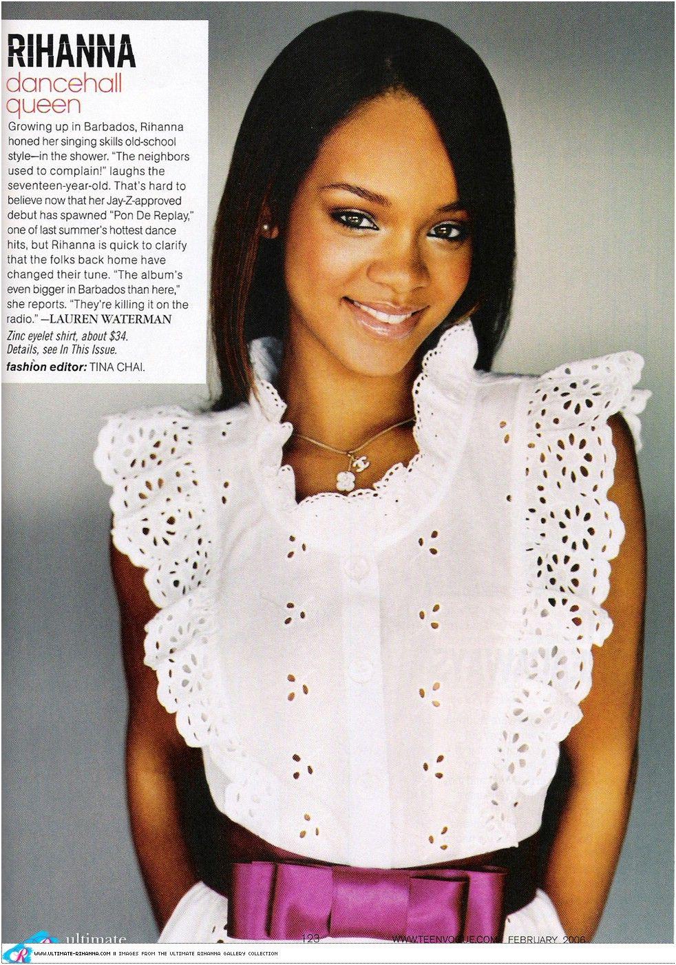 Rihanna as a teen
