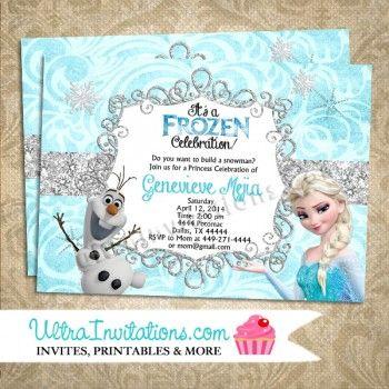 Olaf elsa birthday invitations 10 olivias 5 birthday ideas disney frozen olaf elsa birthday invitations printable digital or prints filmwisefo