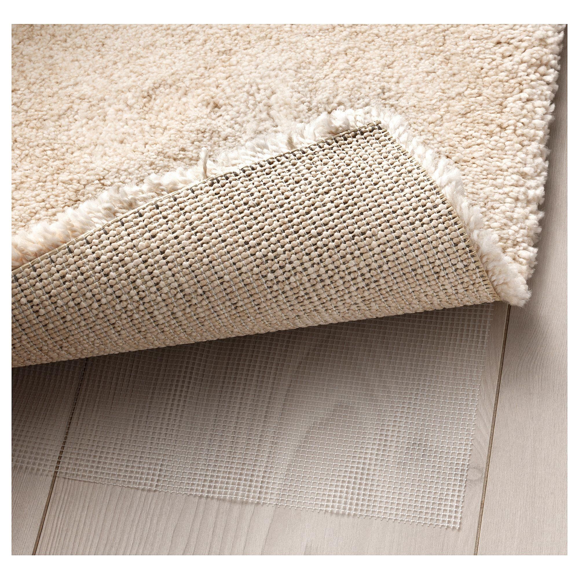 Ikea Stoense Off White Rug Low Pile Grey Carpet Rugs