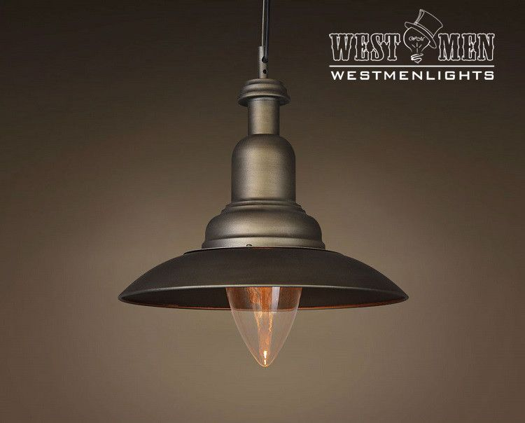Vintage Industrial Bell Shade Pendant Hanging Light Kitchen Art Deco Lamp Loft