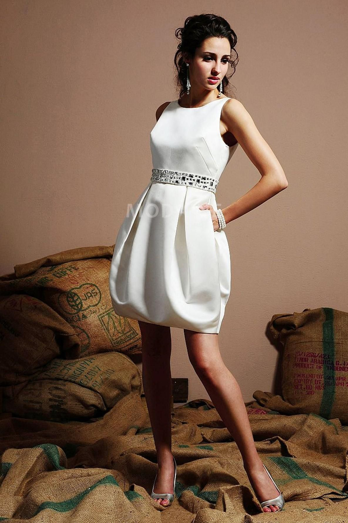 Casual wedding dresses with color  Robe mariage etat civil  Color dress  Pinterest  Mariage and Robes