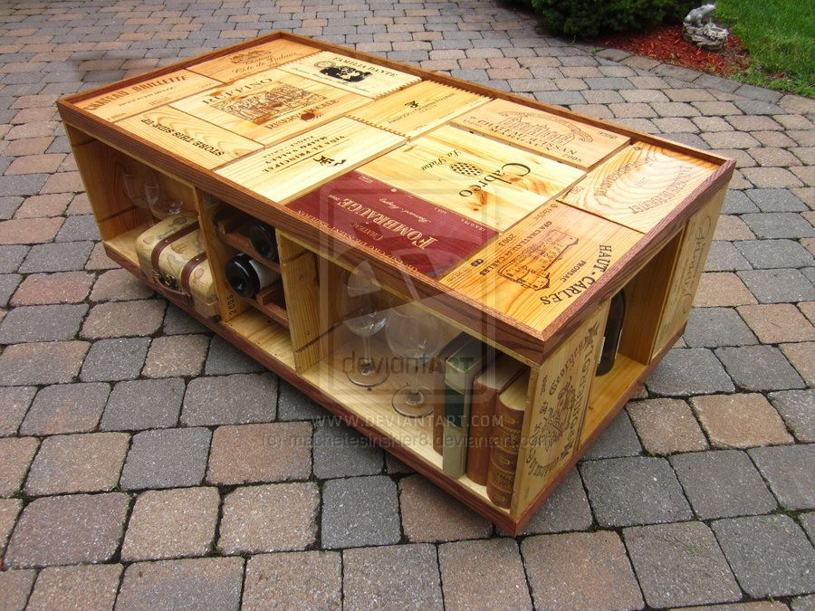 Recycled Wine Crate Coffee Table by machetesinskier8 on
