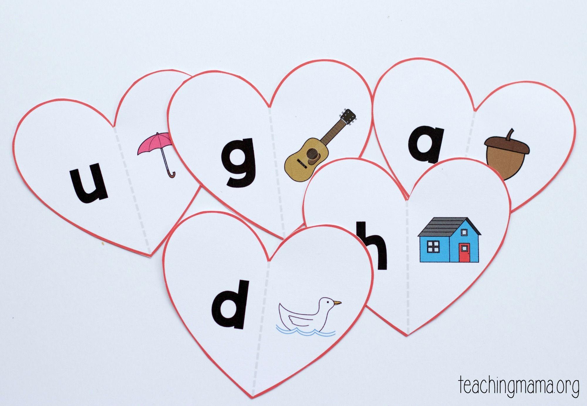 Valentine Beginning Sounds Match In