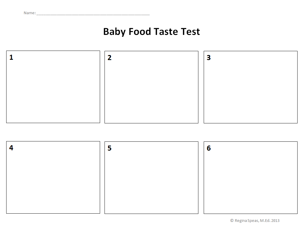 Baby Food Taste Test Printable Preschoolers Can Make Predictions Of
