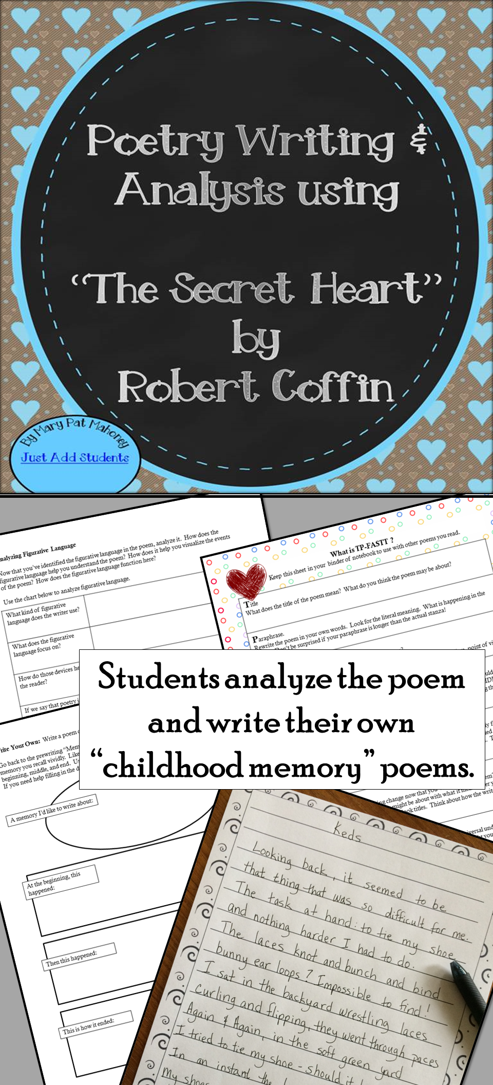 poetry writing and analysis the secret heart middle school free lessons priced lessons. Black Bedroom Furniture Sets. Home Design Ideas