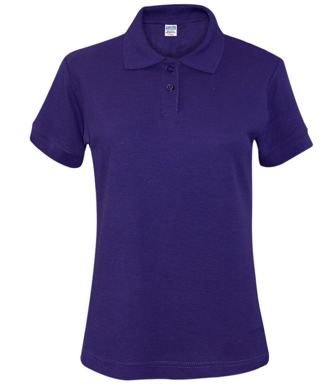 New Ladies Pique Polo Shirt PK Tee Collar Neck plus Sizes Women T ...