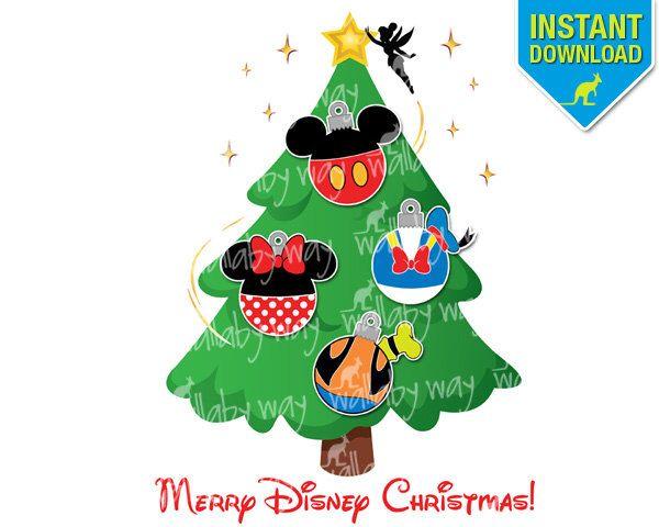 Disney Christmas Tree Printable Iron On Transfer Or Use As Clipart Diy Disney Christmas Disney Christmas Tree Disney Christmas Shirts Disney World Christmas
