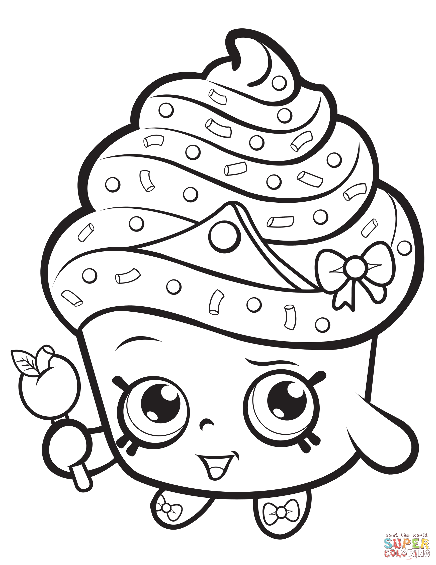 Shopkins Coloring Pages Cupcake Queen Cupcake Coloring Pages Shopkins Colouring Pages Princess Coloring Pages