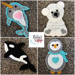 Arctic Friends #crochetapplicates