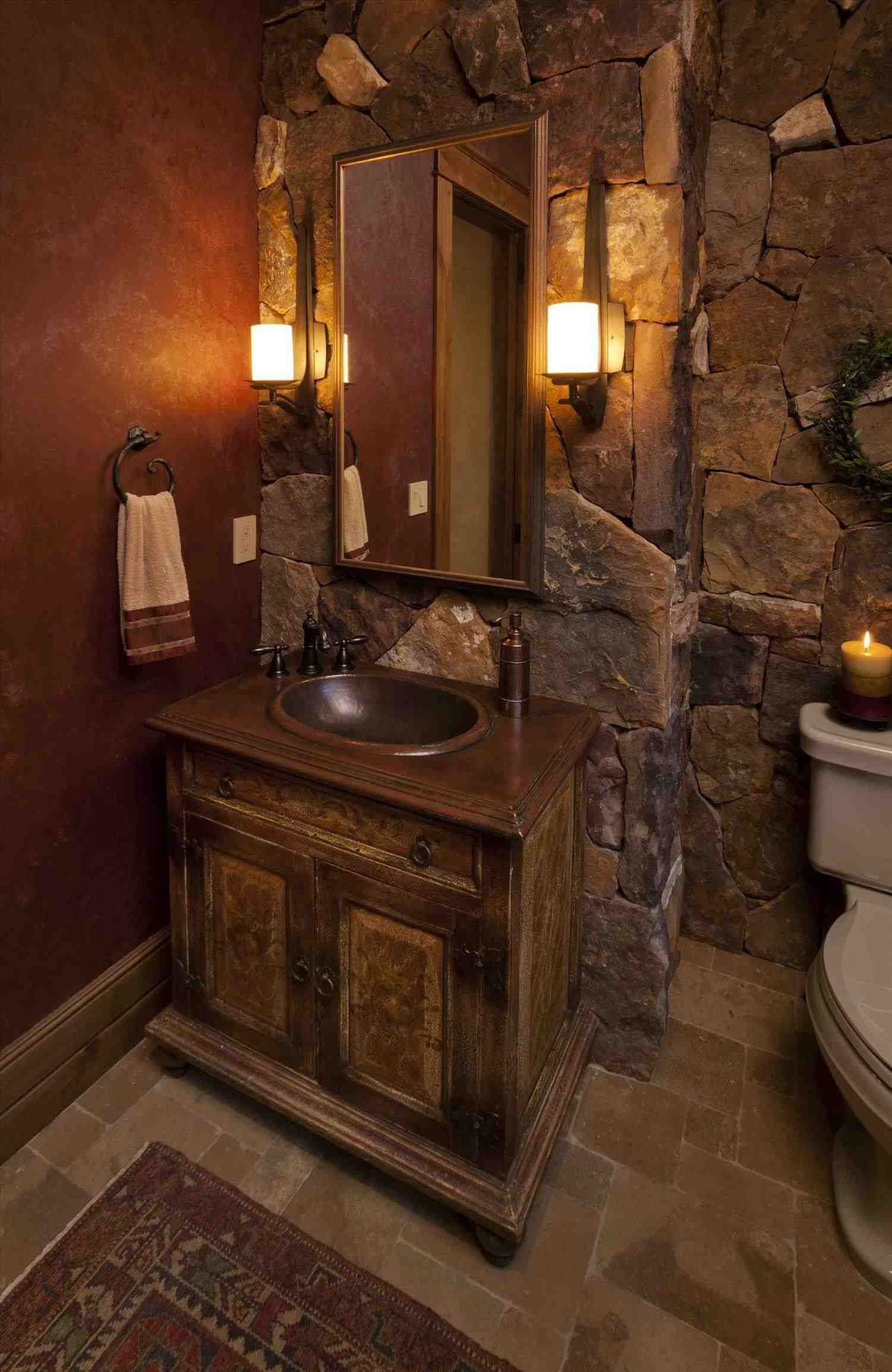 This Small Rustic Bathroom Ideas On A Budget How To Turn A Cabinet Into A Bathroom Vanity Rustic Bathrooms Rustic Bathroom Lighting Rustic Bathroom Vanities