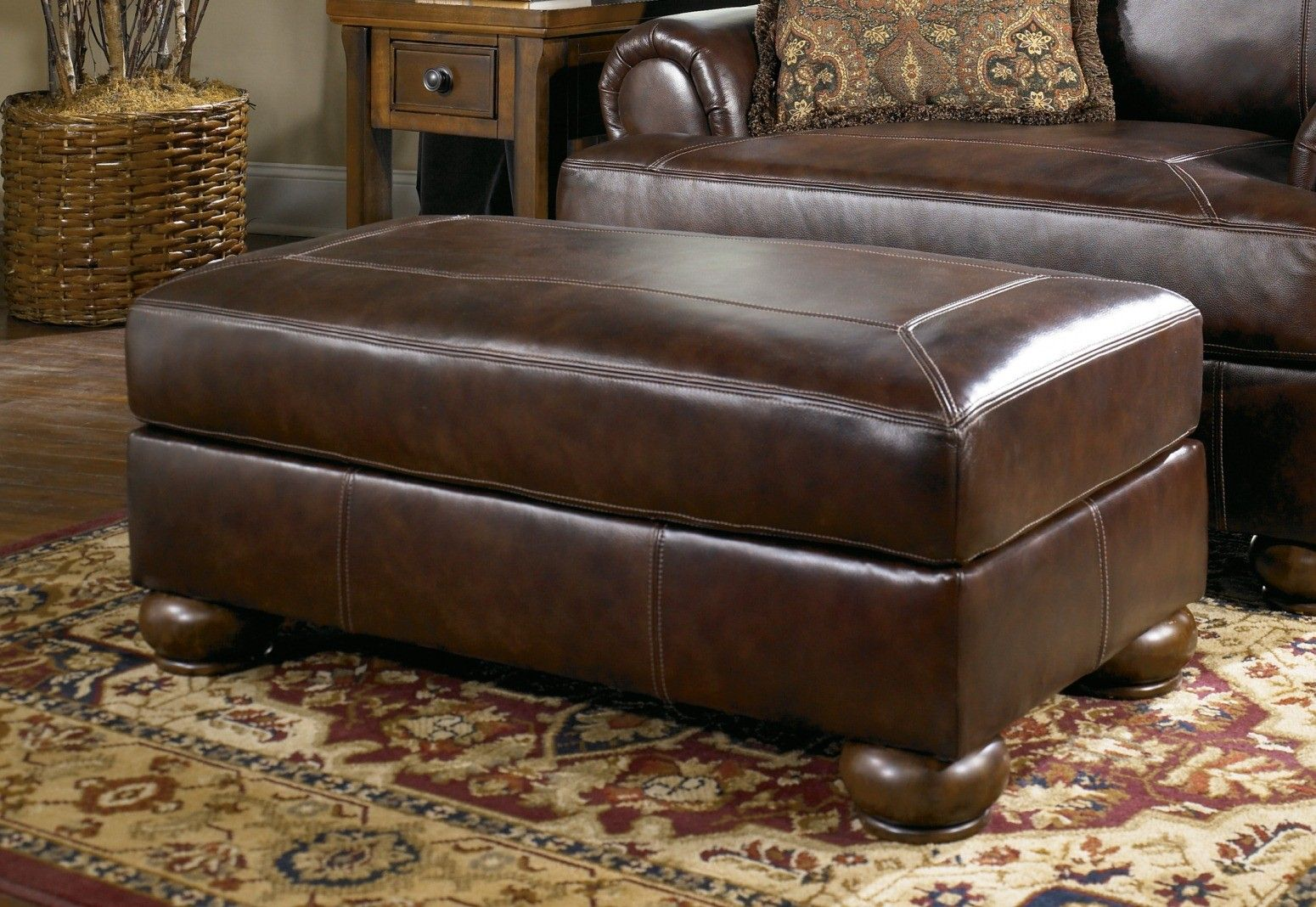 Ashley Furniture Axiom Leather Ottoman