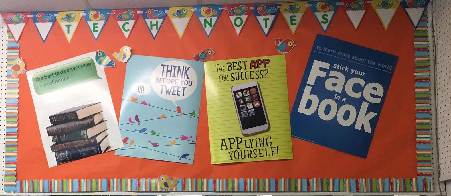 Tech notes bulletin board bulletin displays pinterest bulletin