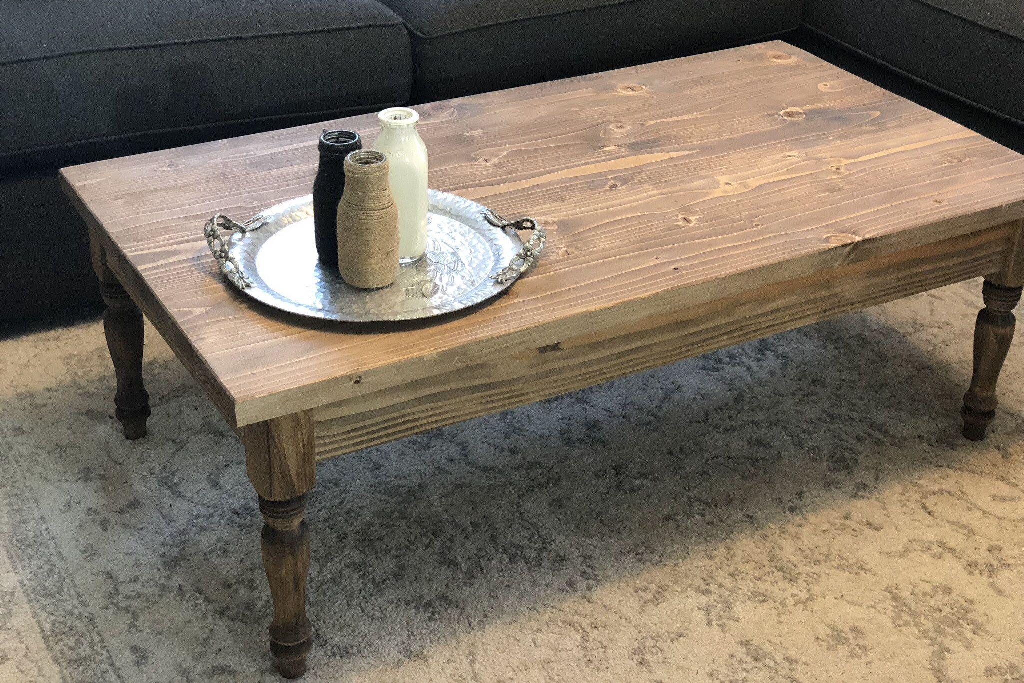 Turned Leg Rustic Coffee Table Rustic Furniture Farmhouse Furniture Farmhouse Coffee Table Brown Co Coffee Table Farmhouse Farmhouse Furniture Coffee Table