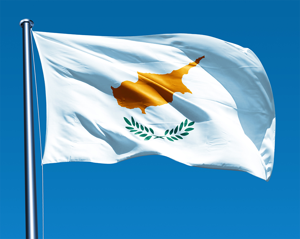 Under the terms of the Annan Plan for Cyprus, a United Nations proposal to settle the Cyprus dispute, a new national flag would have been adopted by a reconstituted confederal republic of Cyprus. Description from cyprusflag.facts.co. I searched for this on bing.com/images