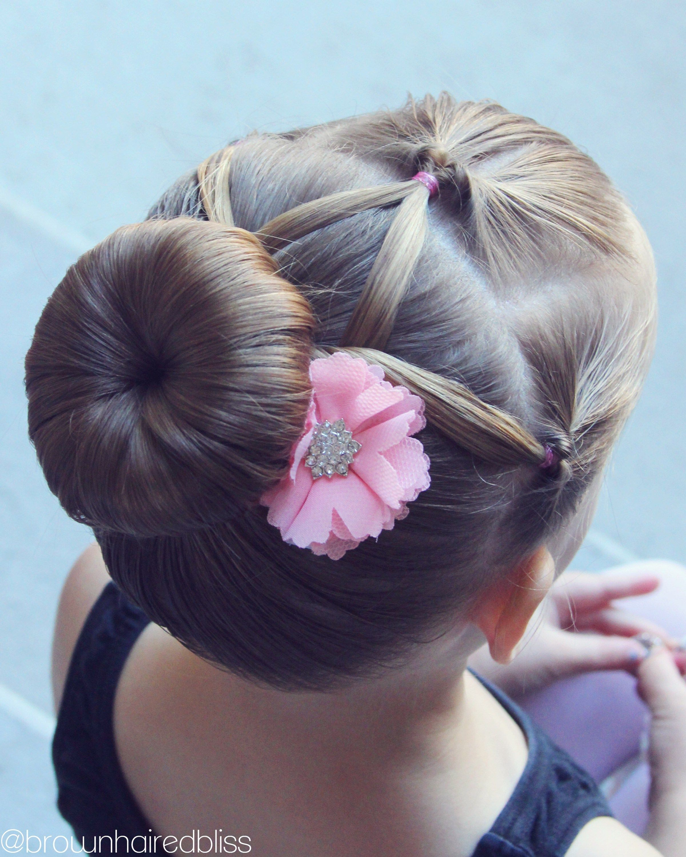 My Girls Love To Have Their Hair Up And Pretty For Dance Here S A Style That I Did On Little Sis And I Just Love H Dance Hairstyles Ballerina Hair Hair