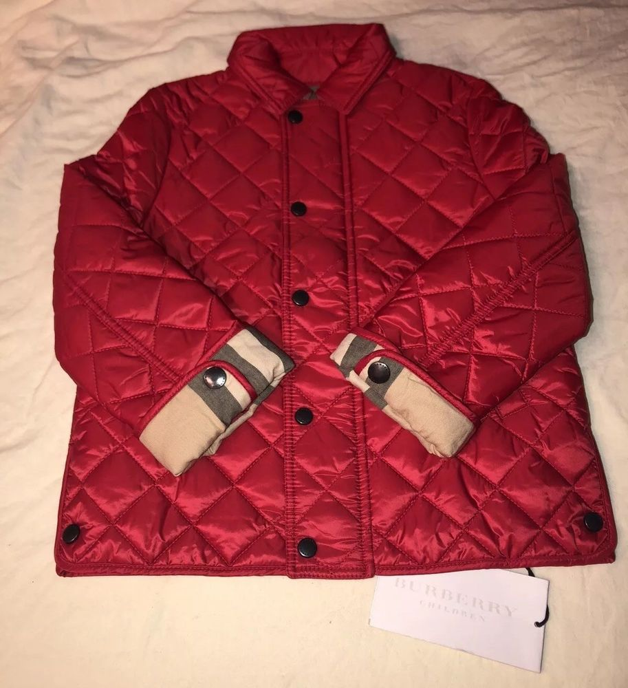 Ebay Sponsored Kids Burberry Quilted Jacket Red Size 3y