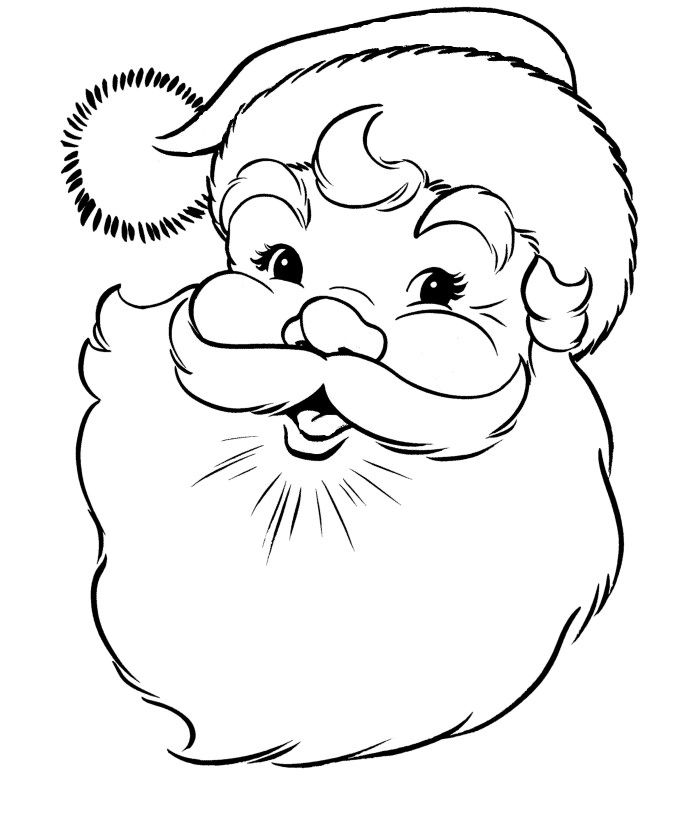 60 Best Santa Templates Shapes Crafts Colouring Pages – Santa Templates Free