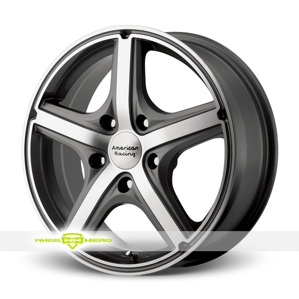 American racing wheels maverick with 5 on bolt pattern anthracite with machined face american racing wheels