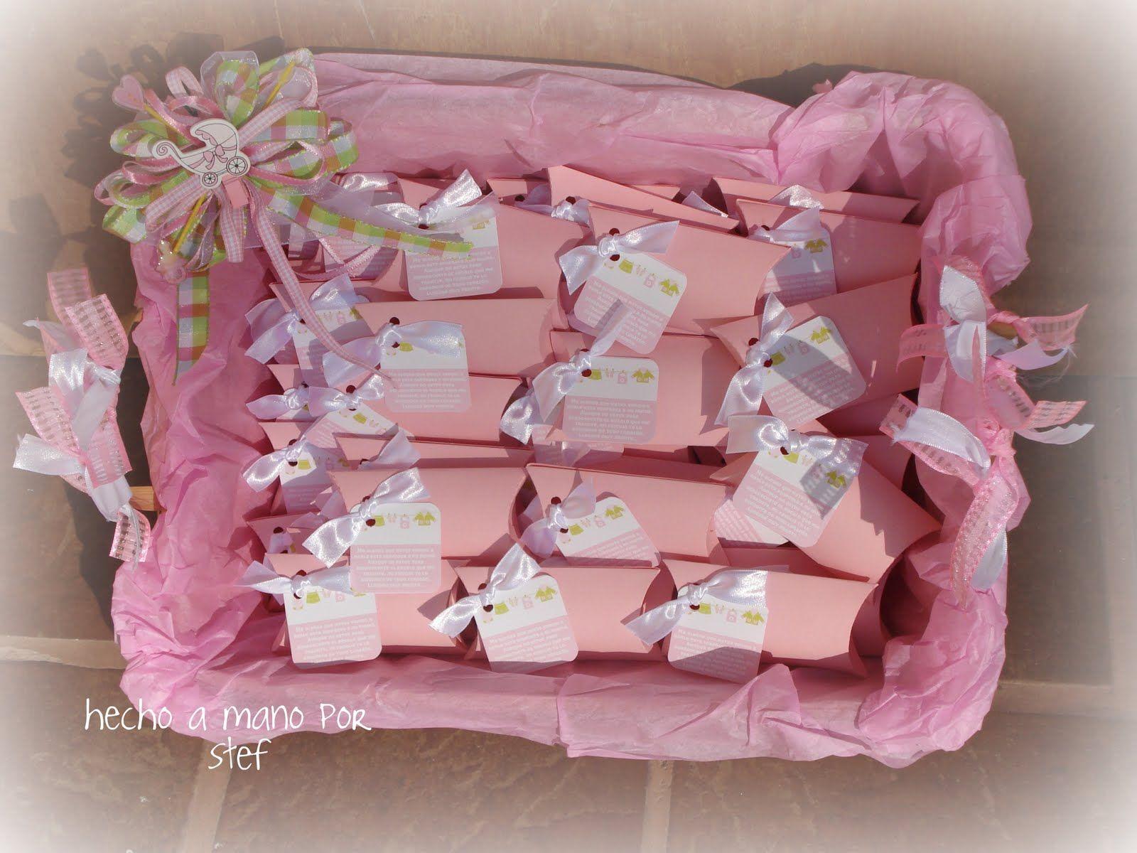 Cajitas que se pueden usar o recuerdos del baby showers o
