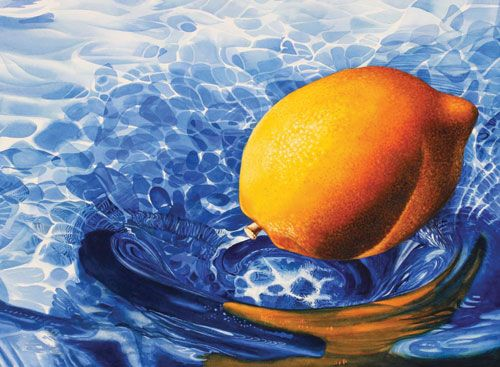 Here The Artist Chose To Use Blue With Complementary Colors Of Yellow Orange And