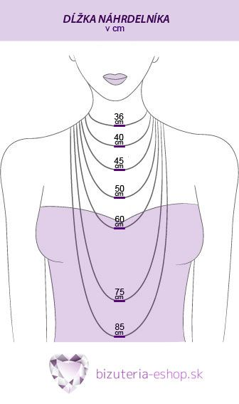 necklace lenght in metric system ♥ #jewelry #fashion #necklace