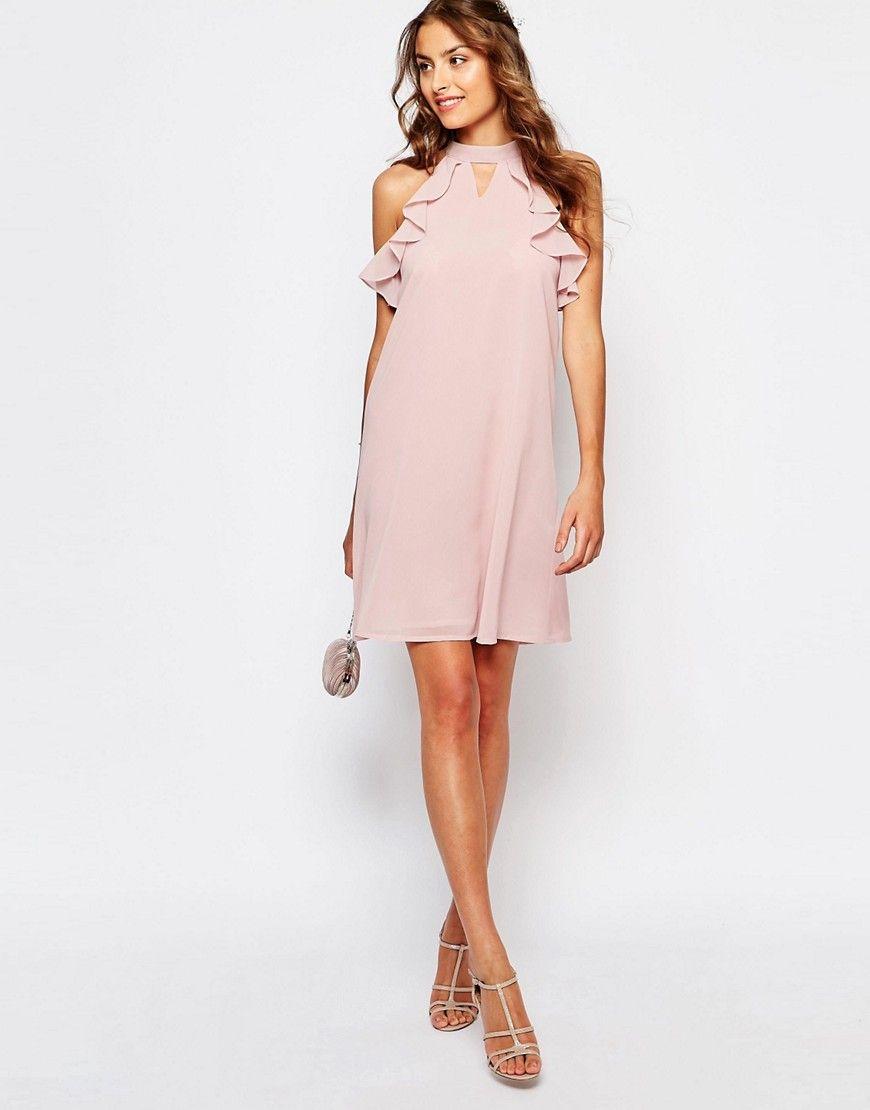 Image 4 ofTrue Decadence Tall Frill Sleeve Shift Dress