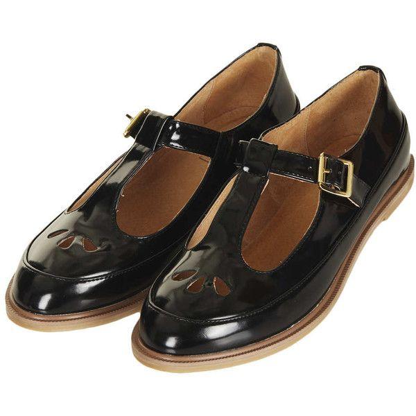 TOPSHOP MARTIE Patent T Bar Geek Shoes