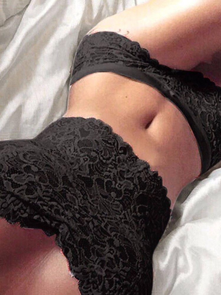 Women White Transparent Lace Underwear Sets  44721ac67