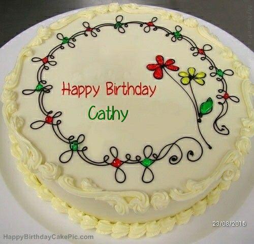 Flower cake Cathy birthday cakes Pinterest Birthday cakes