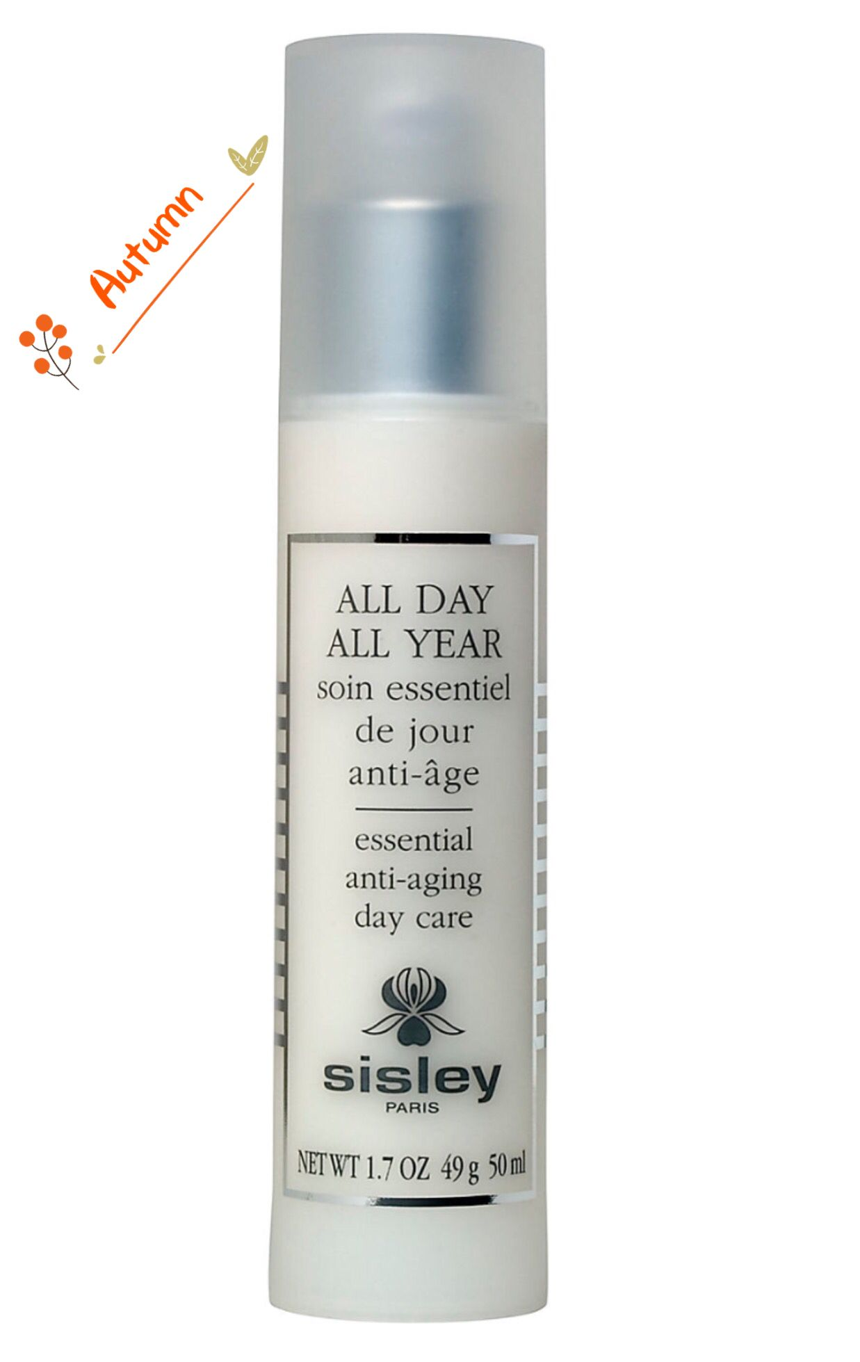 Sisley All Day All Year Essential Anti Aging Day Care 1 7oz 50ml Skincare Skin Cream Anti Aging Organic Skin Cream Anti Aging Skin Treatment