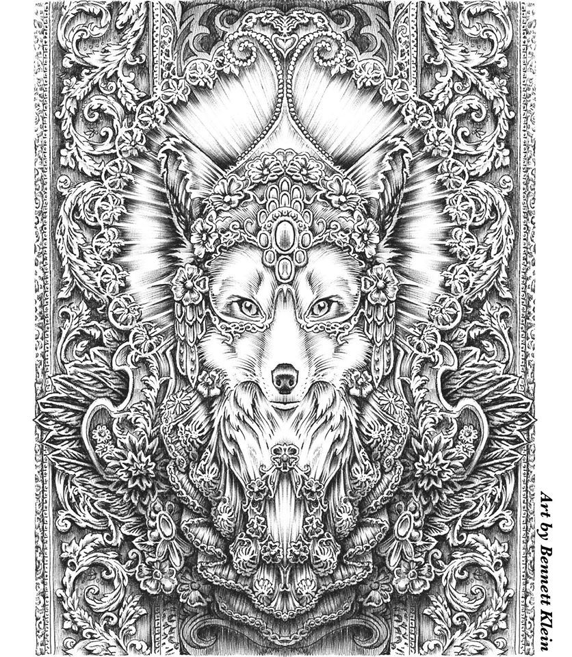 Artist Bennett Klein Coloring Books Animal Coloring Pages Grayscale Coloring