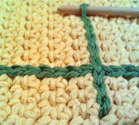 Crochet Chain Stitch Embroidery - what a cool way to personalize a blanket!
