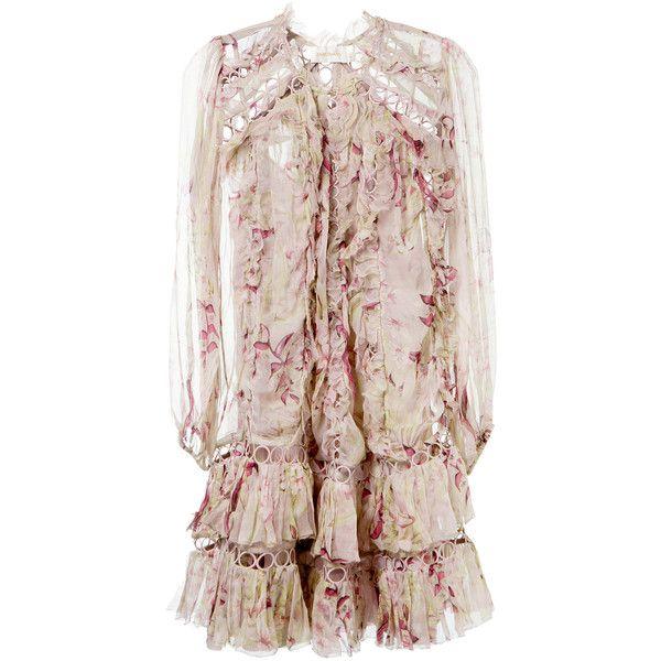 Zimmermann Winsome Ruffled Midi Dress ($1,300) ❤ liked on Polyvore ...